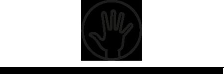 Logo Hand mit Textzeile 450x150px_dt_schwarz