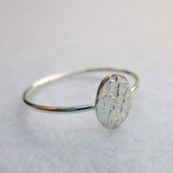 Plättchenring Silber