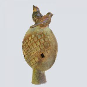 Keramikfigur Vögel auf dem Baum